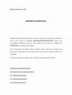 Cartas De Referencias Personal Formato Referencia Personal