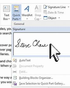 Insert Signature In Word Sign A Word Document With Your Signature Steve Chase Docs