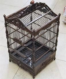 gabbie uccelli usate gabbia in legno antico per uccellini artigianali nero