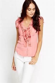 sleeveless ruffle blouse ruffle trim sleeveless blouse just 163 5