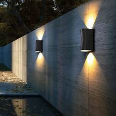 Black Outdoor Up And Down Lights Up Down Light Wall Scone Light Led Outdoor Modern Design