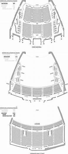 Usher Hall Seating Chart Performance Halls Eastman School Of Music