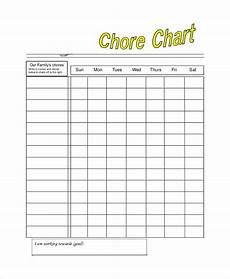 Blank Chore Chart Sample Chore Chart 14 Documents In Pdf Word Excel