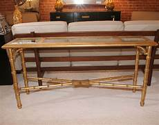 Bamboo Sofa Table 3d Image by Faux Bamboo Gold Leaf Sofa Table Console At 1stdibs