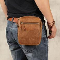 Designer Pouch Bag Mens Leather Belt Pouch Mens Small Cases Waist Bag Hip Pack