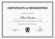 Free Template For Certificate Of Recognition Simple Certificate Of Recognition Design Template In Psd Word