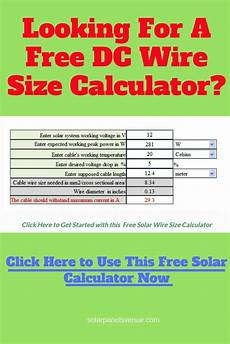 Solar Inverter Sizing Chart Free Solar Cable Size Calculator Best Solar Panels