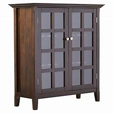 simpli home acadian accent storage cabinet wayfair