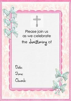 Christening Invitation Card Design Free Download Free Christening Invitation Cards