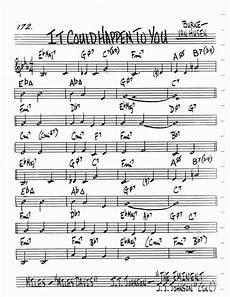 Alice In Wonderland Jazz Chart Jazz Standard Realbook Chart It Could Happen To You Jazz