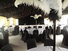 black and white wedding decor so lets party