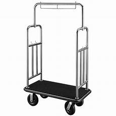 bar vogn csl deluxe stainless steel bellman s cart w squared top