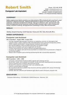 Computer Lab Assistant Resume Computer Lab Assistant Resume Samples Qwikresume