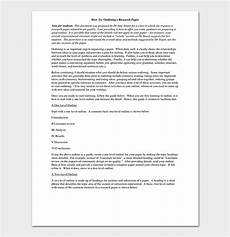 Research Paper Write Research Paper Template 13 Free Formats Amp Outlines