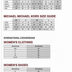 Michael Kors Mens Size Chart Michael Kors Other Sizing Chart Poshmark