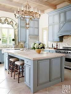 blue kitchen cabinets better homes gardens