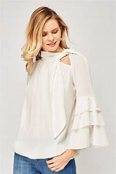 flair sleeve blouse layered flared sleeve blouse just 6