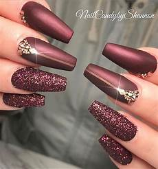 Burgundy And Black Nail Designs 46 Elegant Acrylic Ombre Burgundy Coffin Nails Design For