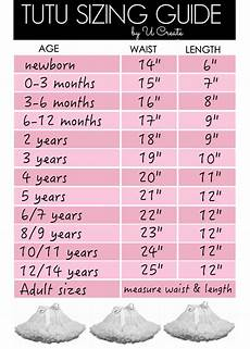 Tutu Dress Size Chart Tutu Sizing Guide Chart U Create