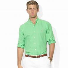 ralph sleeve shirts for ralph sleeve washed oxford sport shirt in lime