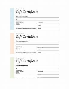 Avery Certificate Templates Gift Certificates Differing Colors 3 Up Organization