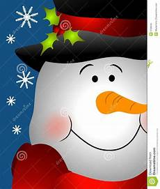 Snowman Faces Clip Art Smiling Snowman Face Close Up Stock Illustration