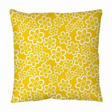 Yellow Accent Pillows For Sofa Png Image by Bright Seamless Pattern With White Flowers At Yellow