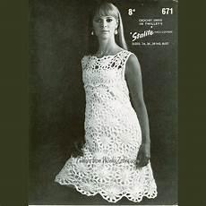 crochet dress pattern pdf 059 vintage shift dress from