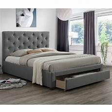 modern bed with 1 drawer light grey yes