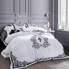 luxury white embroidered bedclothes cotton bed set 5