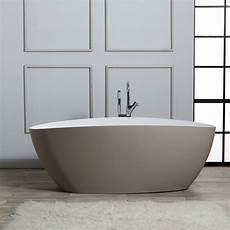 vasca di bagno vasca da bagno freestanding in resina di marmo beige kv