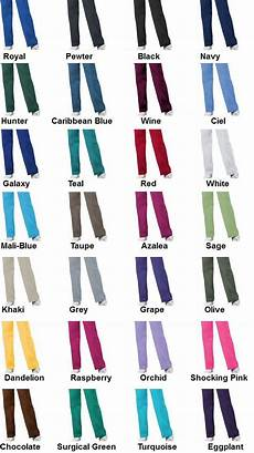 Scrub Color Chart Cherokee Color Chart 4100