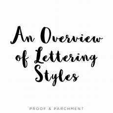Lettering Font Style An Comparison Of Lettering Styles Hand Lettering