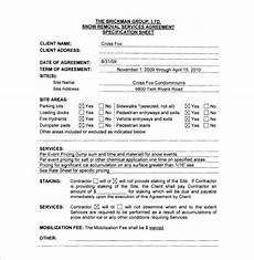 Commercial Snow Removal Contract Snow Removal Contract Templates Emmamcintyrephotography Com