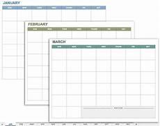 Calendar Planner Templates 15 Free Monthly Calendar Templates Smartsheet