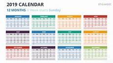Calendar Slides Free Download Template Kalender 2019 Kalender Plan