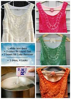 white dye for clothes 1 white lace dress 4 different looks with rit dye rit