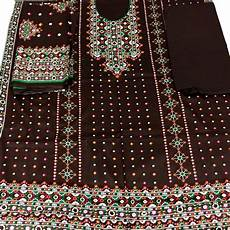 Chunri Design Suit Chunri Design Lawn Dress For Women Brown Buy Online