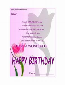 Birthday Card Format For Word 41 Free Birthday Card Templates In Word Excel Pdf
