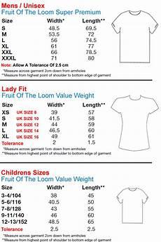 Fruit Of The Loom Size Chart Fruit Of The Loom Sweatshirt Sizes Arts Arts