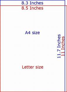 Letter Size Paper Dimensions A4 Paper Size In Inches Vs Letter Size Paper Sizes In