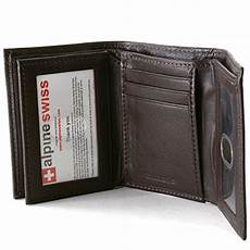 tri fold windows mens trifold wallet extra capacity 10 inside slots 2 id