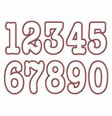 Numbers Design Template Cassidy Applique Numbers Machine Embroidery Design 4x4