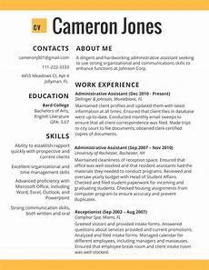 Resume Cv Examples Best Resume Examples 2018 Online Resume 2019