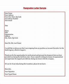 Resignation Letter Simple Free 7 Resign Letter Samples In Ms Word Pdf
