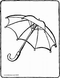 Gratis Malvorlagen Regenschirm Regenschirm Kiddimalseite