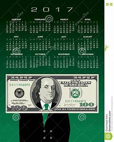 Money Calendar 2017 Money Calendar Stock Vector Illustration Of America
