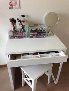 ikea micke as vanity desk dressing table white diy