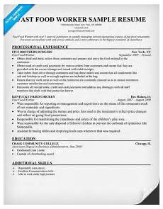 Resume For Food Industry Fast Food Worker Resume Resumecompanion Com Resume