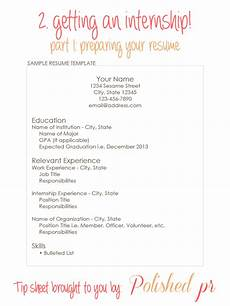 Compiling A Resume Getting An Internship Part 1 Preparing Your Resume
